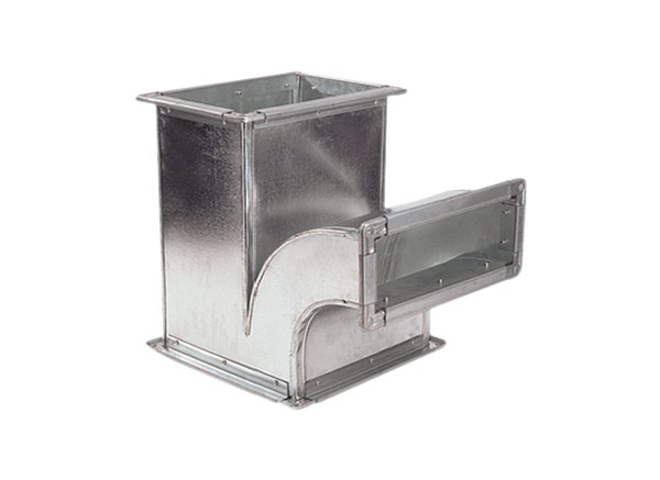 Galvanised Y straight ducts with flange connection