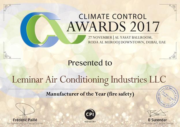 Climate Control Award   2017
